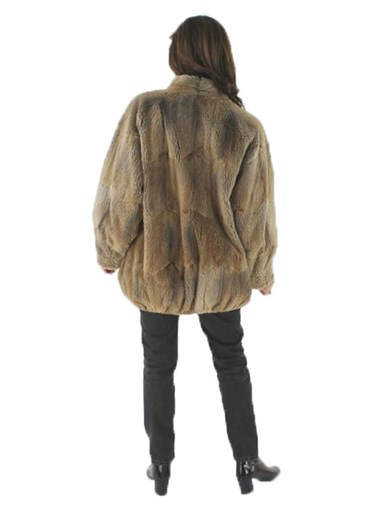 Natural Sheared Muskrat Fur Jacket