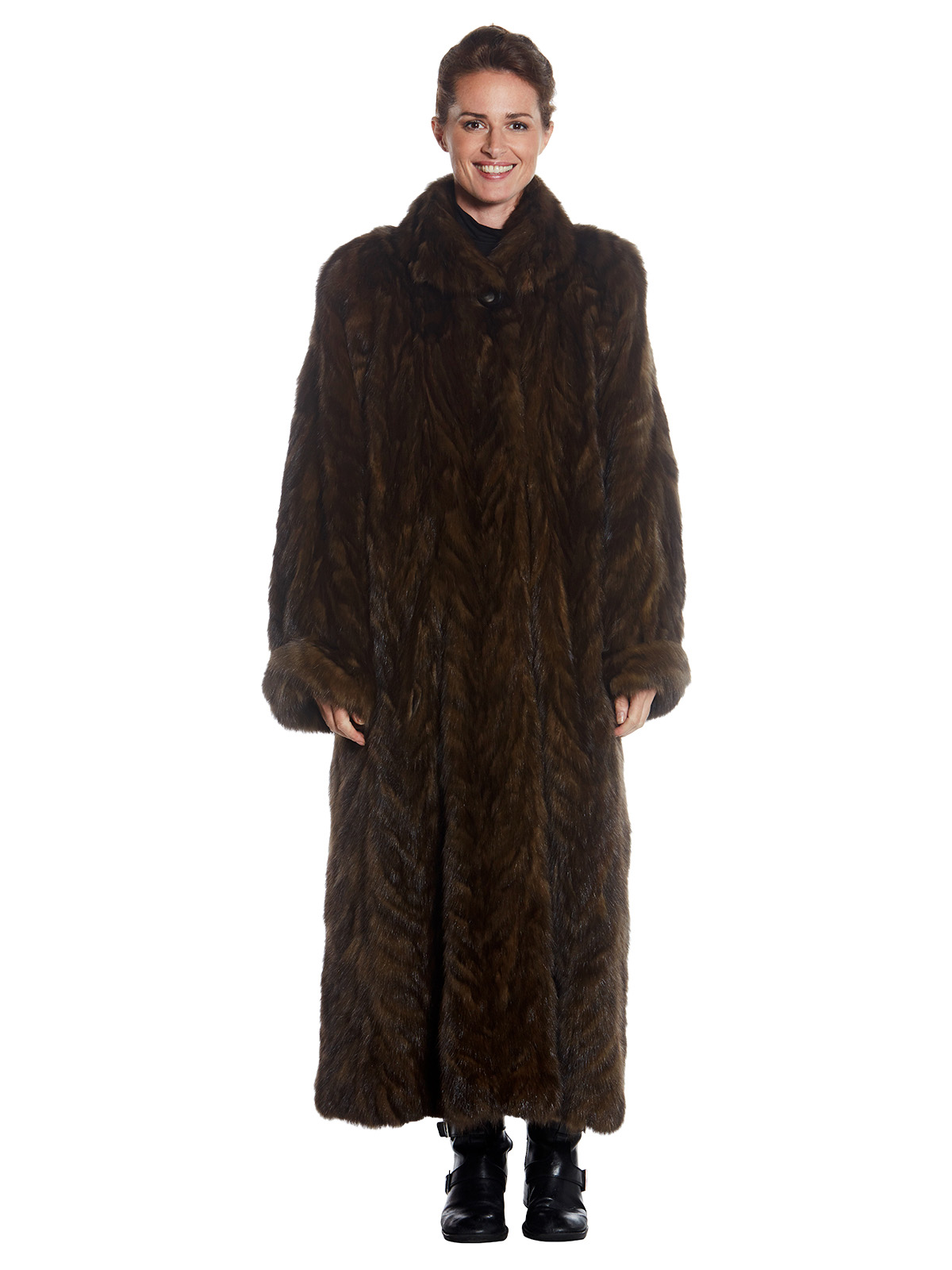 Womens Full Length Sable Fur Coat