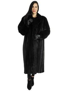 Plus Size Woman's Ranch Female Mink Fur Coat