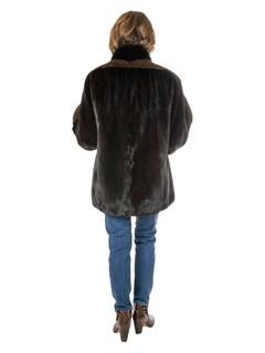 Woman's Ranch Mink Fur Jacket with Lunaraine Mink Inserts