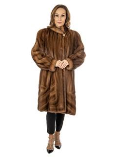 Woman's Demi Buff Female Mink Fur Stroller