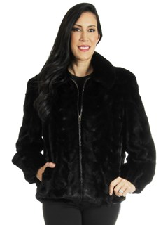 Woman's NEW Ranch Sectioned Mink Fur Jacket