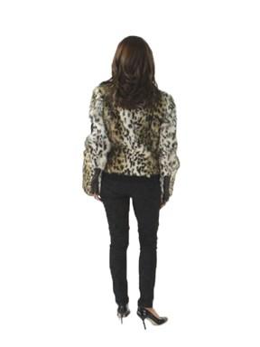Animal Print Fur Jacket