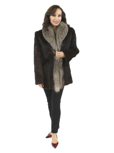 Mink Fur Cord Cut Jacket