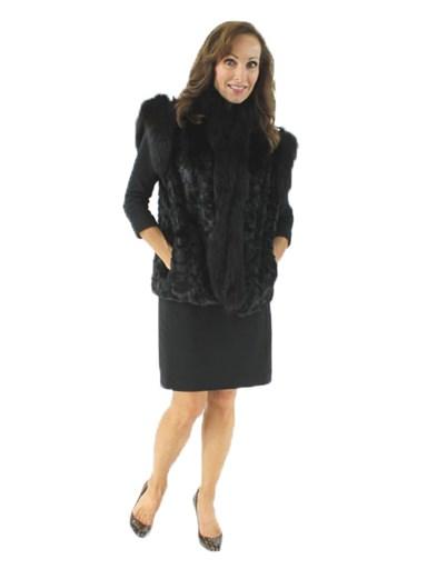 Ranch Mink Fur Section Vest