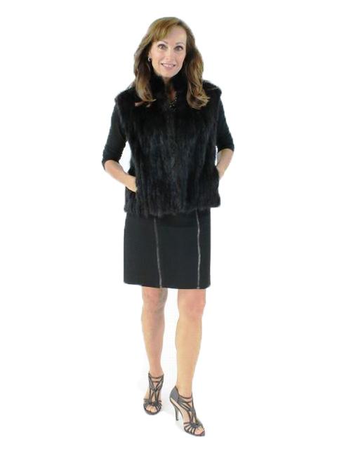 Woman's Ranch Mink Cord Cut Fur Vest