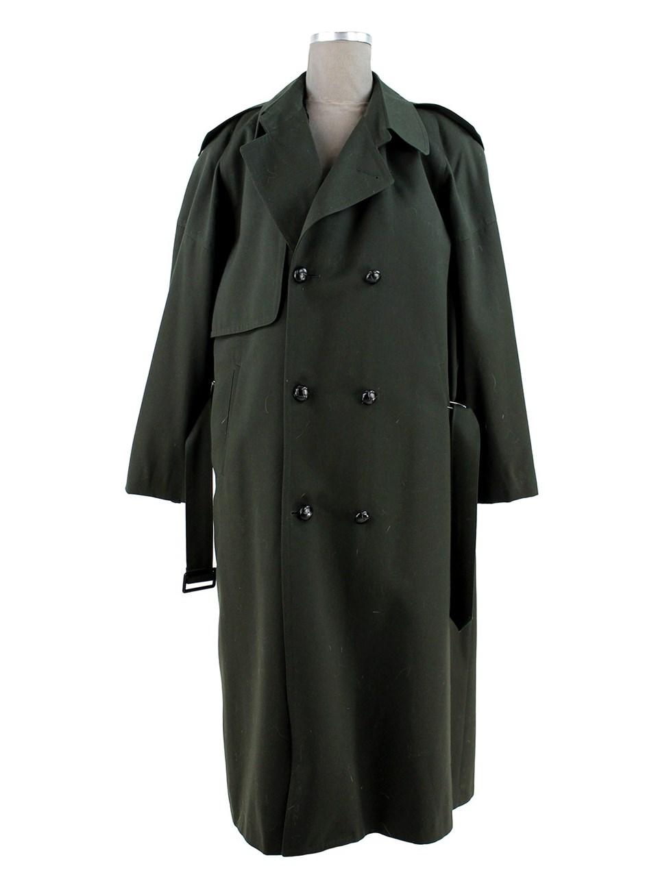 Mans Gabardine Olive Trench coat