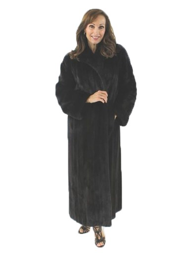 Ranch Mink Fur Coat w/ Directional Sleeves