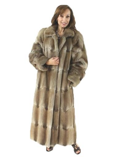 Full Length Muskrat Fur Coat