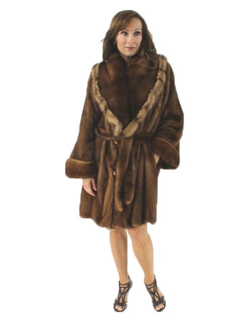 Woman's Demi Buff Mink Fur Stroller