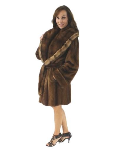 Demibuff Mink Fur Reversible Stroller