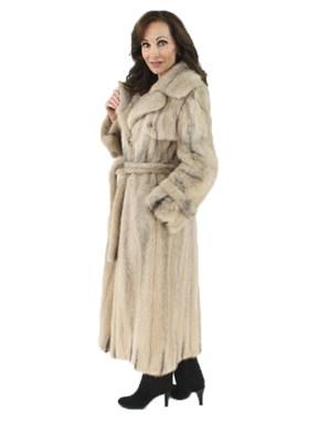 Mink Fur Trench Coat