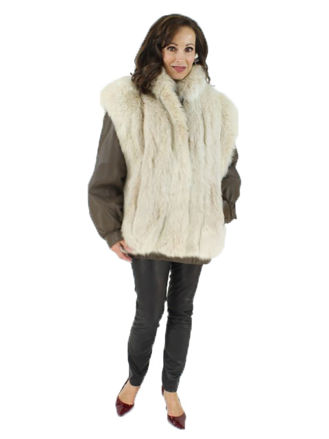 Woman's Blush Fox Fur  Jacket