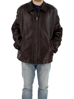 New Man's Brown Lamb Leather Jacket