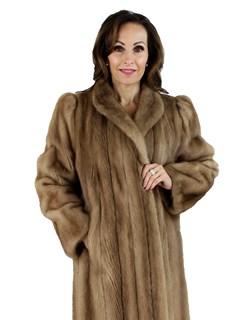 Woman's Pastel Mink Fur Coat