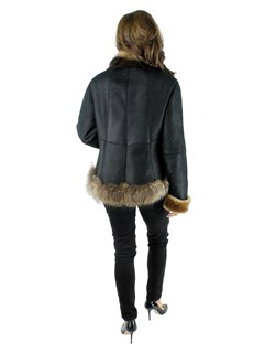 NEW Shearling Lamb Jacket w/Finnish Raccoon Trim