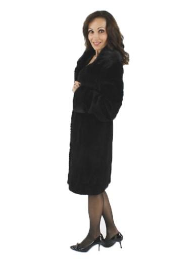 Semi Sheared Mink Fur Stroller