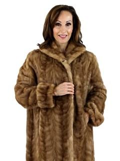 Woman's Pastel Mink Fur Section Stroller