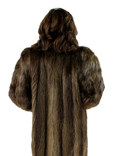 Woman's Long Hair Beaver Fur Coat