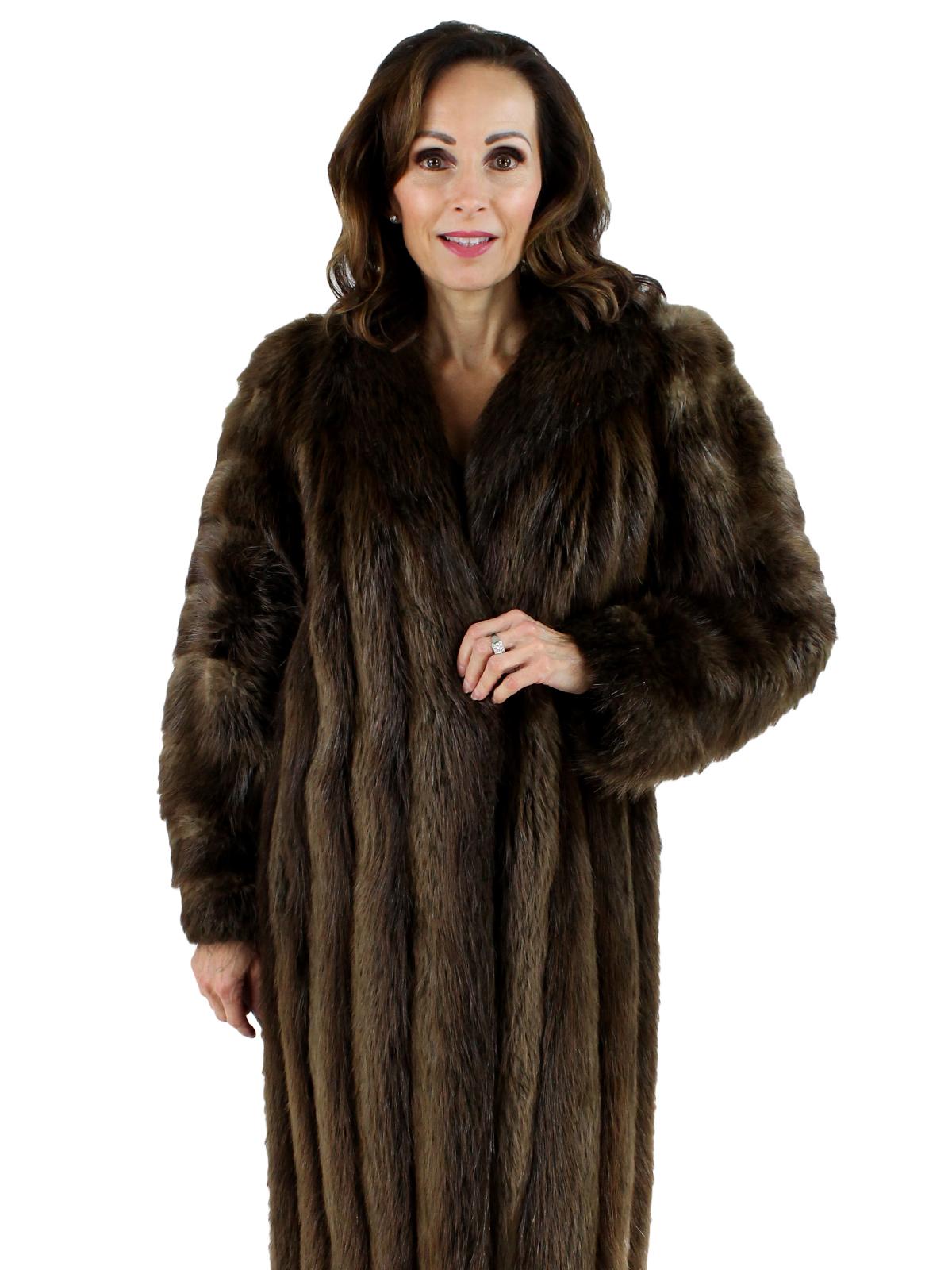 Woman's Long Hair Beaver Fur Coat