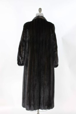 Full Length Ranch Mink Fur Coat