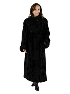 Black Swakara Russian Lamb Fur Coat
