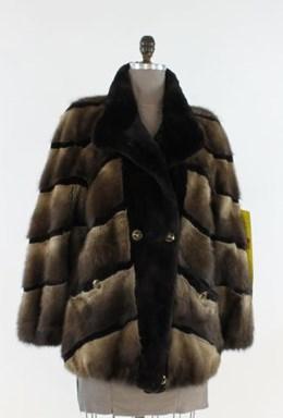 Reversible Muskrat Fur Jacket