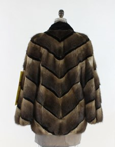 Reversible Muskrat Fur Jacket