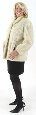 Tourmaline Cord Cut Mink Fur Jacket