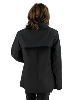 Italian Designer Di Bello Woman's Black Microfiber Jacket