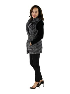 New woman's Grey Mink Vest