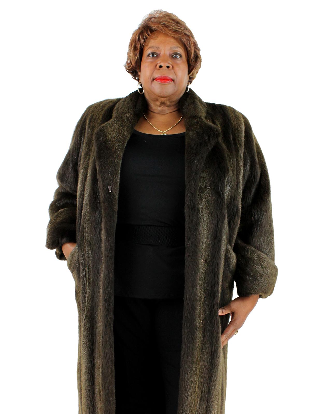 Woman's Sheared Nutria Fur Coat