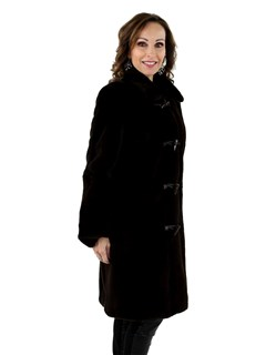 New Woman's Brown Sheared Mink Fur Stroller