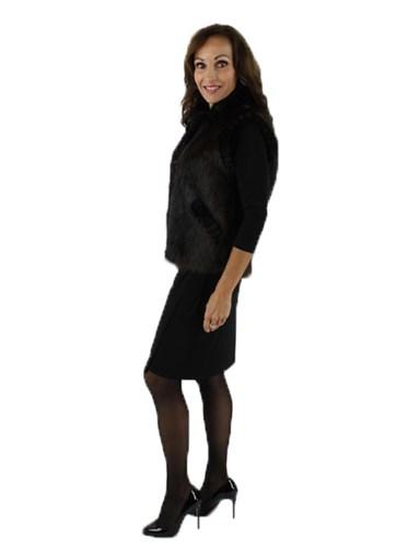 Long Haired Beaver Fur Vest
