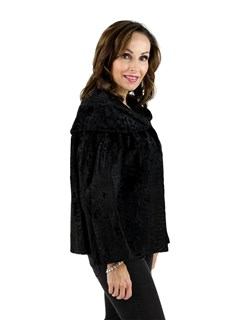 Black Broad Tail Lamb Fur Jacket