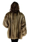 Blonde Long Hair Beaver Jacket