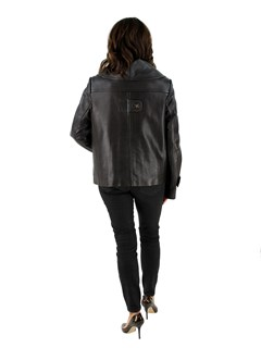NEW Woman's Chocolate Brown Leather Jacket with Removable Quilted Thermal Lining