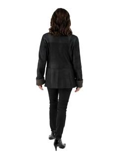 New Woman's Black Shearling Lamb Jacket
