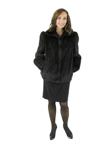 Mink Fur Jacket - Women's Small