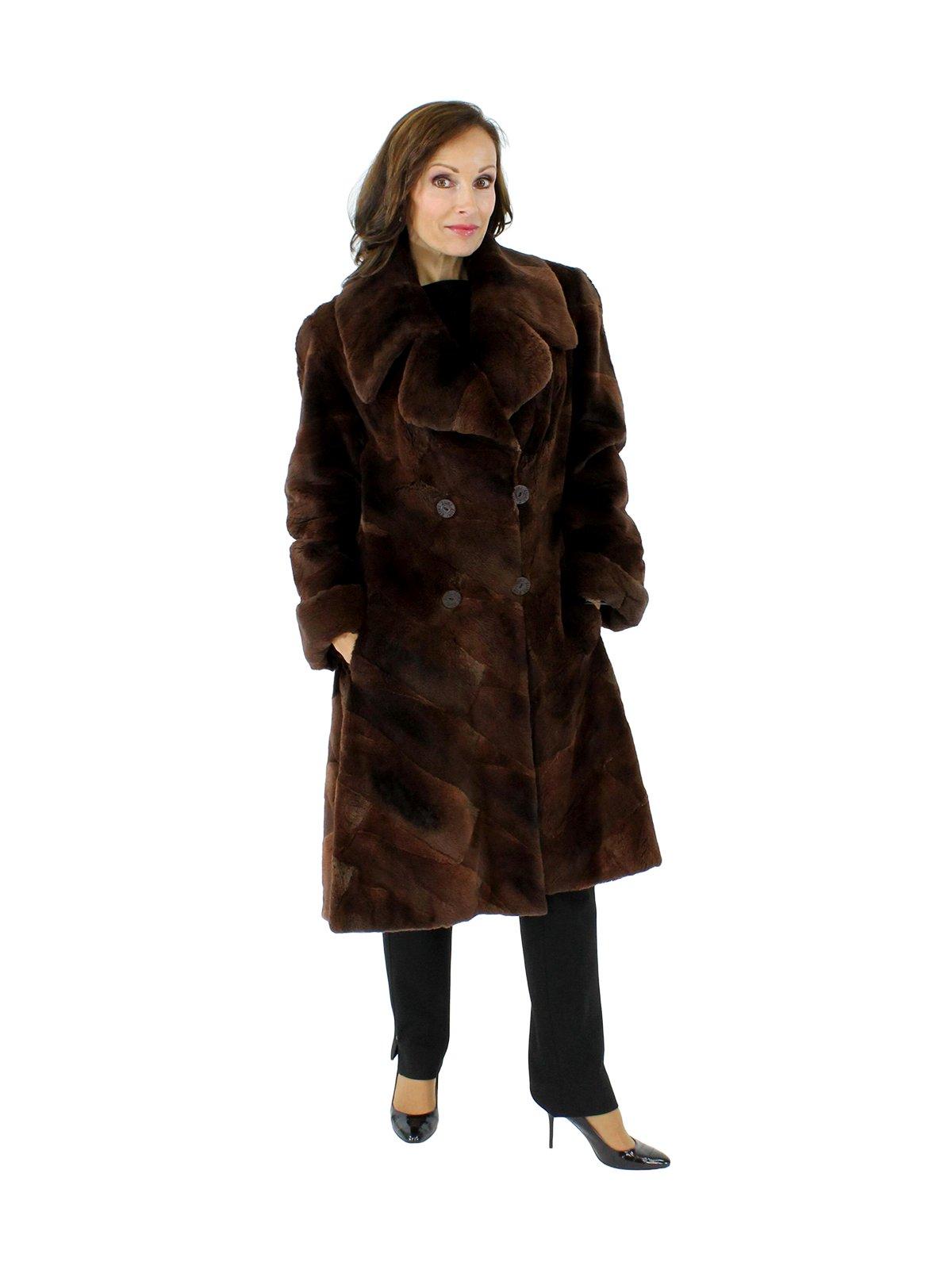 Petite Sheared Muskrat Coat