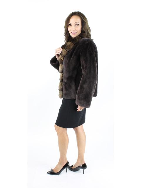 Brown Sheared Beaver Jacket