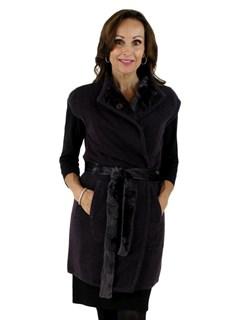 Gorski Woman's Plum Lamb Fur Vest