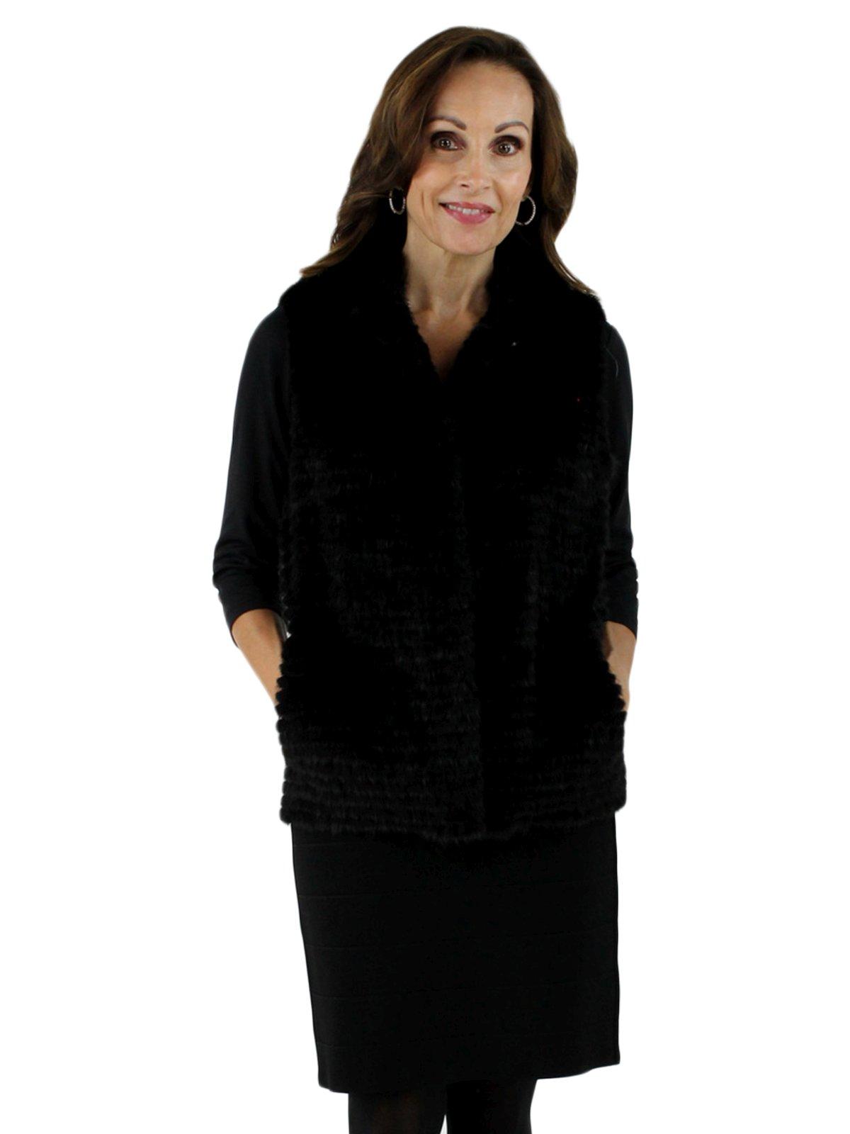 New Gorski Woman's Black Mink Fur Vest