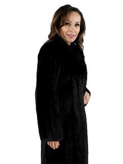 Woman's Petite Ranch Mink Fur Coat
