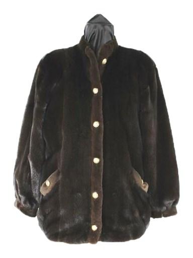 Mink Fur Jacket w/ Shear Mink Trim