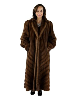 Woman's Demi Buff Mink Fur Coat