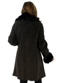 NEW Woman's Dark Chocolate Brown Shearling Stroller