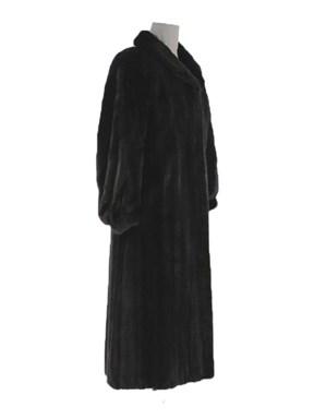 Natural Full Length Ranch Mink Fur Coat