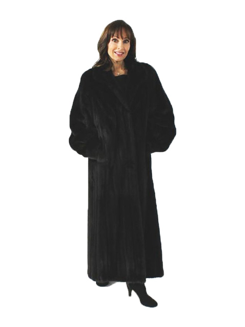 Luxurious and Sweeping Petite Full Length Ranch Mink Coat
