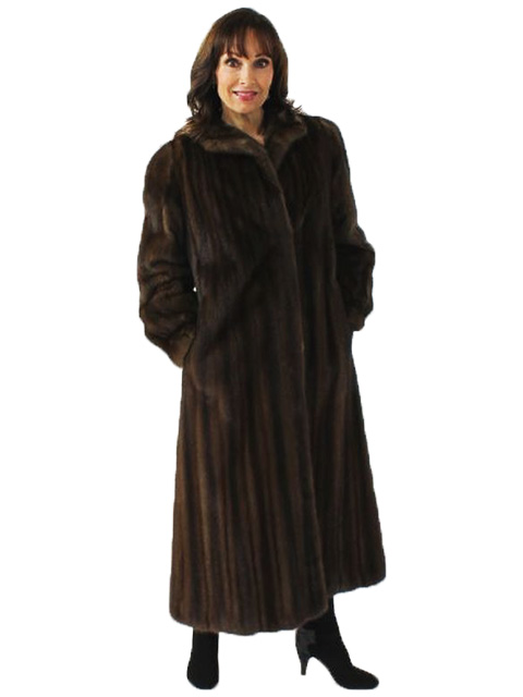 Woman's Classically Styled  Lunaraine  Mink Fur Coat